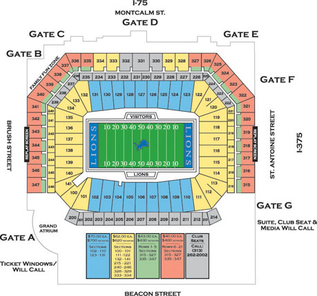 pin ford field stadium seating chart on pinterest. Cars Review. Best American Auto & Cars Review